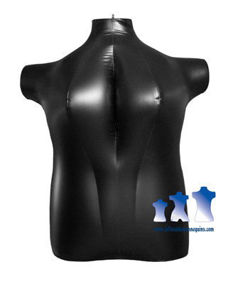 Plus Size Inflatable Mannequin Torso Dress Form 2x Extra Large Black