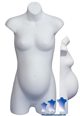 Female Maternity 3/4 Form - Hard Plastic, White, Black or Fleshtone