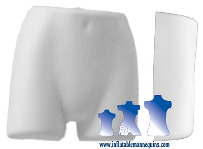 Female Panty Form  - Hard Plastic, White or Black
