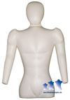 Inflatable Male Torso w/ Head & Arms