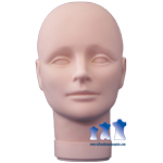 Child Unisex Mannequin Head, Rubber